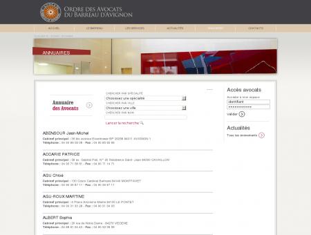 Annuaires - Ordre des avocats du barreau...