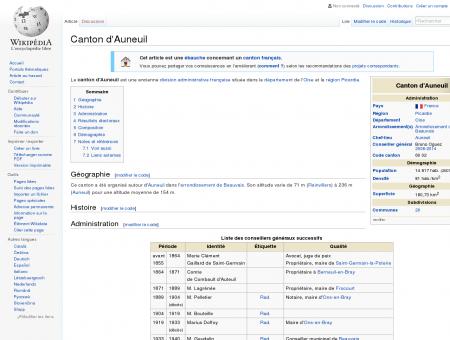 Canton d'Auneuil  Wikipédia