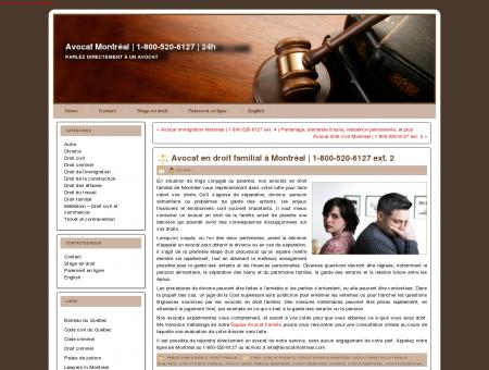 Avocat en droit familial à Montréal   1-800-520...