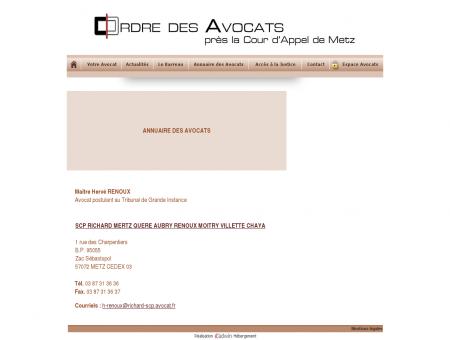 Ordre des Avocats près la cour d'Appel de Metz