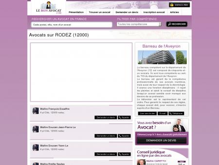 Avocats sur RODEZ (12000) - Le Bon Avocat -...
