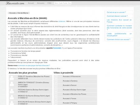 Avocats à Marolles-en-Brie (94440)