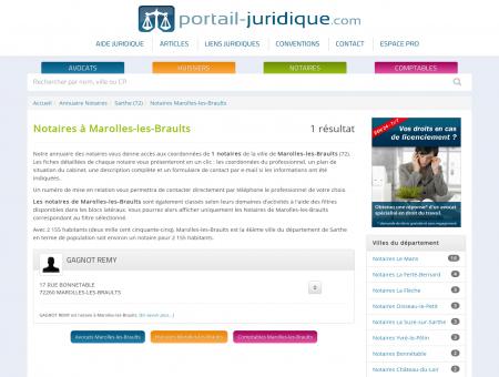 Notaire à Marolles-les-Braults (72)