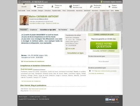 ANTHONY CARAMAN (avocat, maisons alfort)...