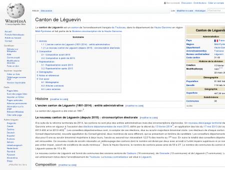 Canton de Léguevin  Wikipédia