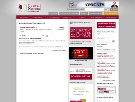 Cession cabinet d'Avocat | Petites annonces |...