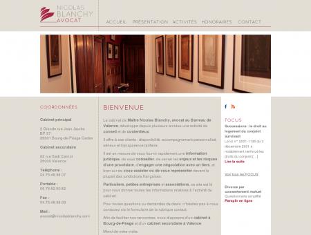 Nicolas Blanchy Avocat Valence - Bourg de...