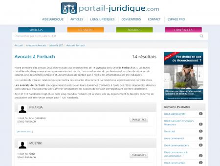 Avocat à Forbach (57) - Portail Juridique :...