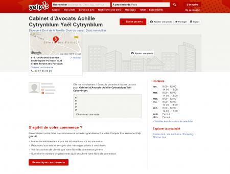 Cabinet d'Avocats Achille Cytrynblum Yaël...