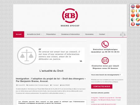 Avocat Droit des Étrangers : Cabinet BRAME...