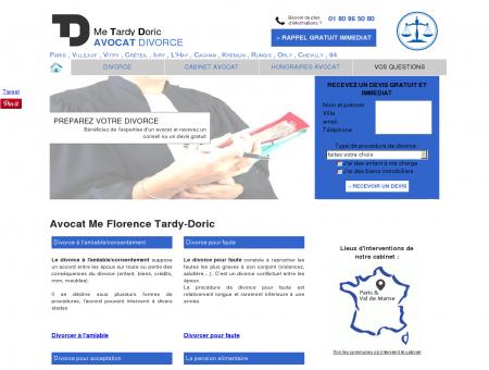 Avocat divorce Me Tardy Doric sur Paris et Val...