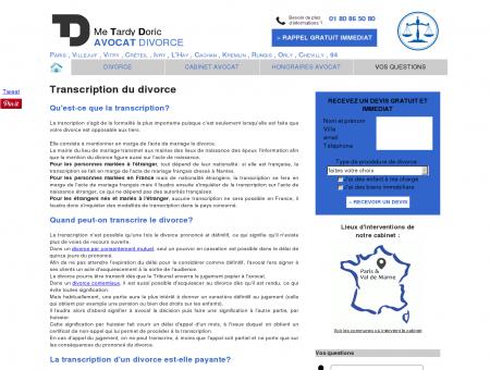 Transcription du divorce - Avocat divorce Me...
