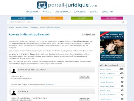 Avocat à Mignaloux-Beauvoir (86)