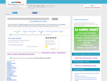Avocats / Cabinets juridique à Beauvoir sur...