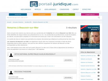 Notaire à Beauvoir-sur-Mer (85)