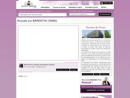 Avocats sur BARENTIN (76360)