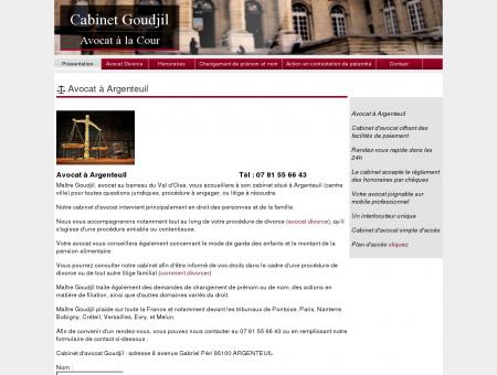 Avocat à Argenteuil - Cabinet Goudjil Avocat
