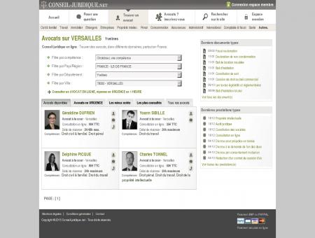Conseil juridique - Avocats sur VERSAILLES...