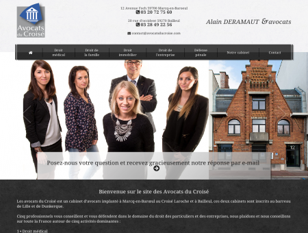 Les Avocats du Croisé : Alain Deramaut, avocat...