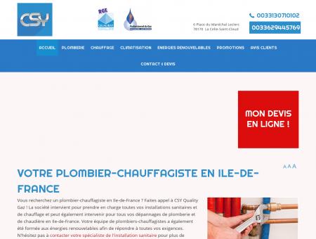Plombier chauffagiste Ile de France :...