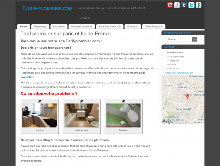 Tarif plombier sur paris et Ile de France Tarif...