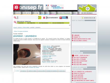 plombier - plombière - Onisep