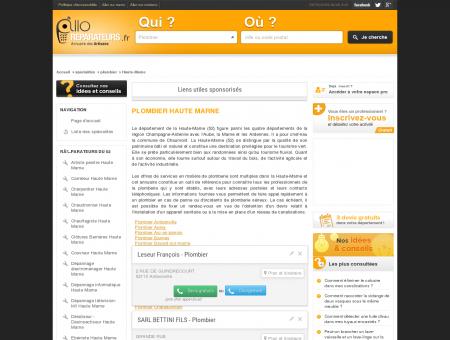Plombier Haute Marne - Réparation -...