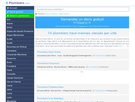 Plombier Haute Marne : 74 plombiers dans le...