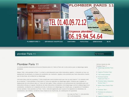 Plombier Paris 11 plomberie Charonne 75011