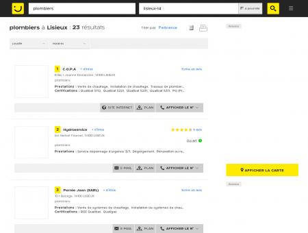 Plombier à Lisieux - PagesJaunes : Trouvez...