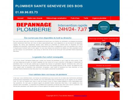 Plombier Sainte Genevieve Des Bois :...