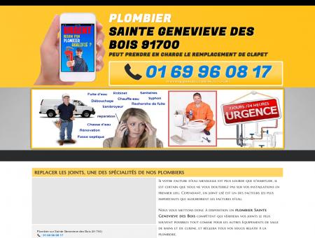 Plombier Sainte Genevieve des Bois au: 01 69...