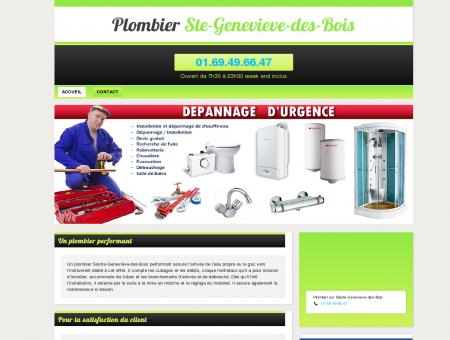 Plombier Ste-Genevieve-des-Bois - Plombier à...