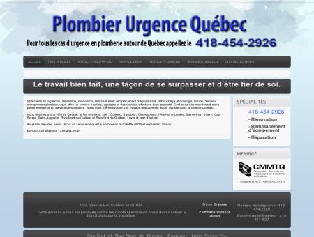 Urgence Plombier Sainte-Foy Lévis Beauport...