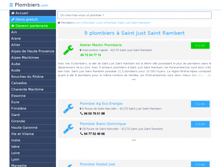 Plombier Saint Just Saint Rambert : Avis,...