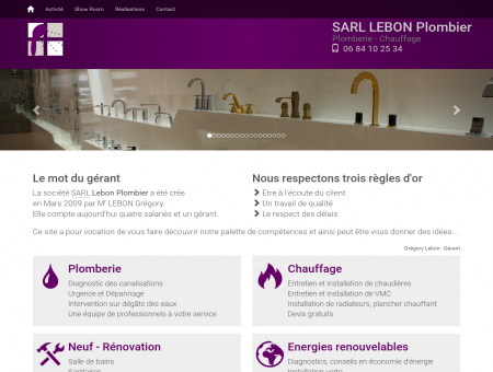Lebon plombier SARL - Plomberie - Chauffage...