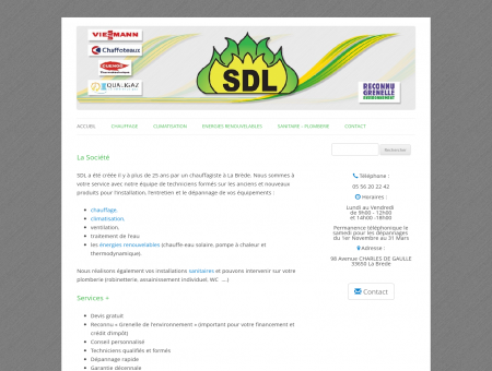 SDL - Chauffage, Clim, Solaire, PAC, Plombier...