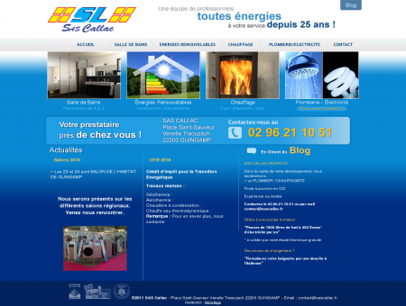 SAS CALLAC - Chauffage, energie renouvelable,...