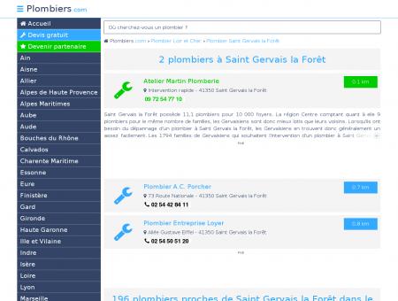 Plombier Saint Gervais la Forêt : Avis, Devis...