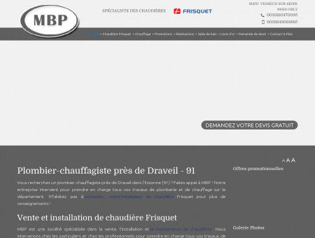 Plombier chauffagiste Draveil, 91 : vente,...