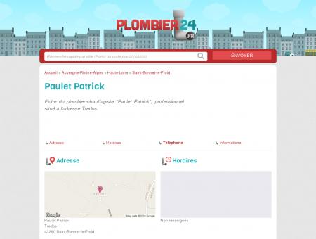 Paulet Patrick - Plombier-Chauffagiste - Saint...