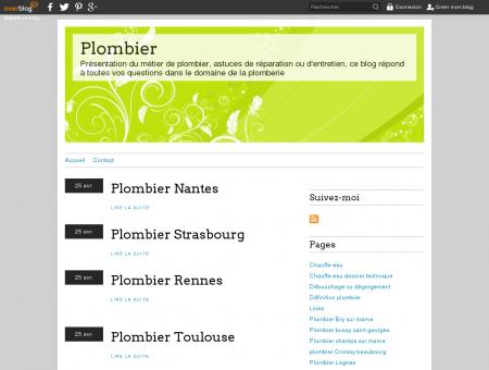 Plombier - Présentation du métier de...