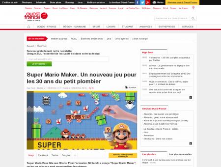 Super Mario Maker. Un nouveau jeu pour les...