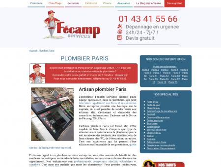 Plombier Paris : depannage d'urgence et...