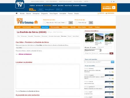 Cau Gilles - Plombiers La Bastide-de-Sérou |...