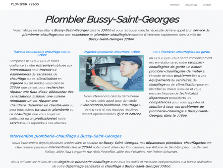 Plombier Bussy-Saint-Georges -...