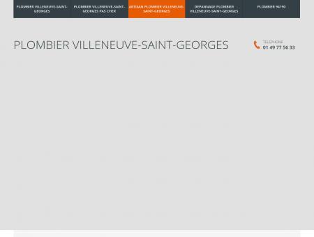 Plombier Villeneuve-Saint-Georges
