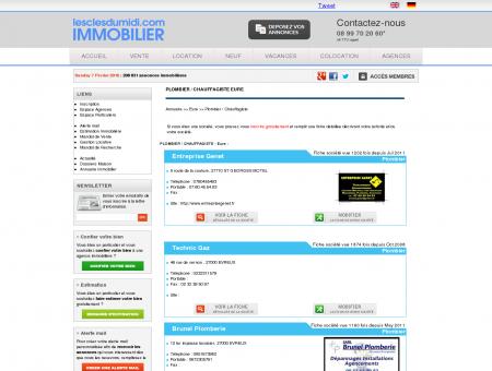 PLOMBIER / CHAUFFAGISTE Eure annuaire...