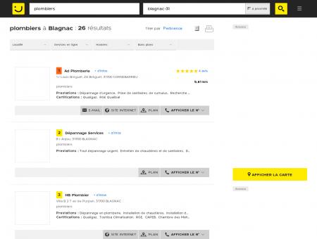 Plombier à Blagnac - PagesJaunes : Trouvez...