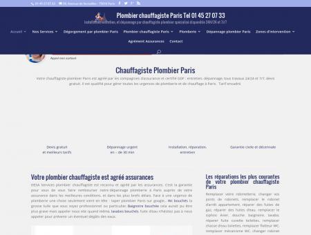 Plombier chauffagiste Paris 01 45 27 07 33